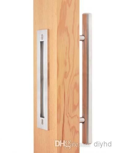 2019 Diyhd 12 Stainless Steel Brushed Satin Sliding Barn Door Wood Door Two Sides Handle And Pulls From Diyhd 22 12 Dhgate Com Barn Door Handles Wooden Sliding Doors Sliding Door Handles