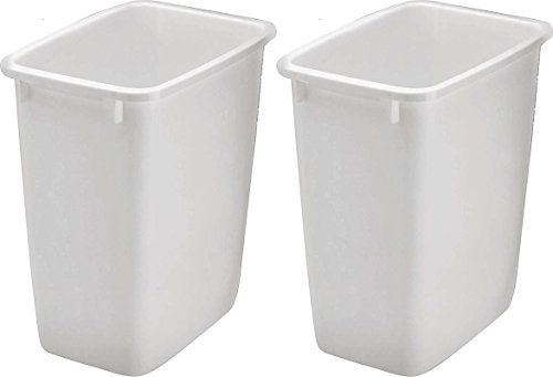 36 Qt Large Open Wastebasket Alluring Rubbermaid 2806Tpwht 36Qt Open Wastebasket White Pack Https Inspiration Design