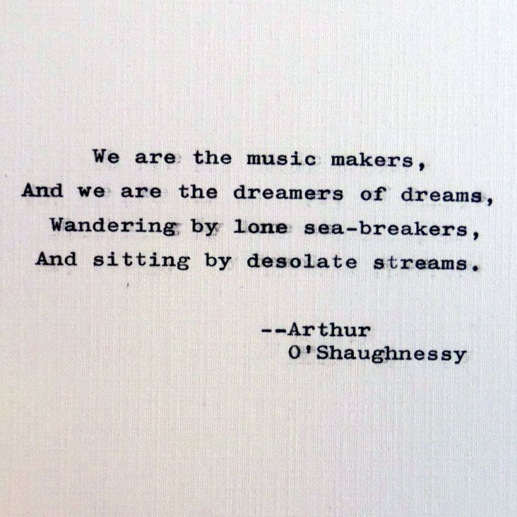 New to RogueryPress on Etsy: Arthur O\'Shaughnessy quote; We ...