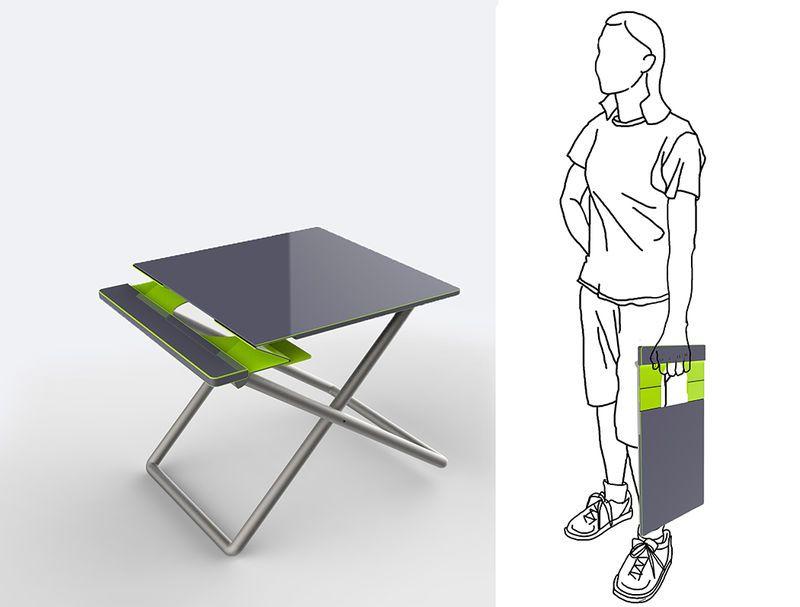 Folding Portable Workstations ภาพวาด