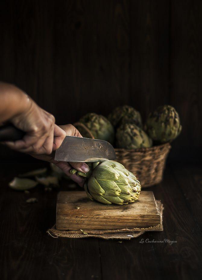 C mo pelar y cocinar alcachofas frescas la cucharina - Como cocinar judias verdes frescas ...