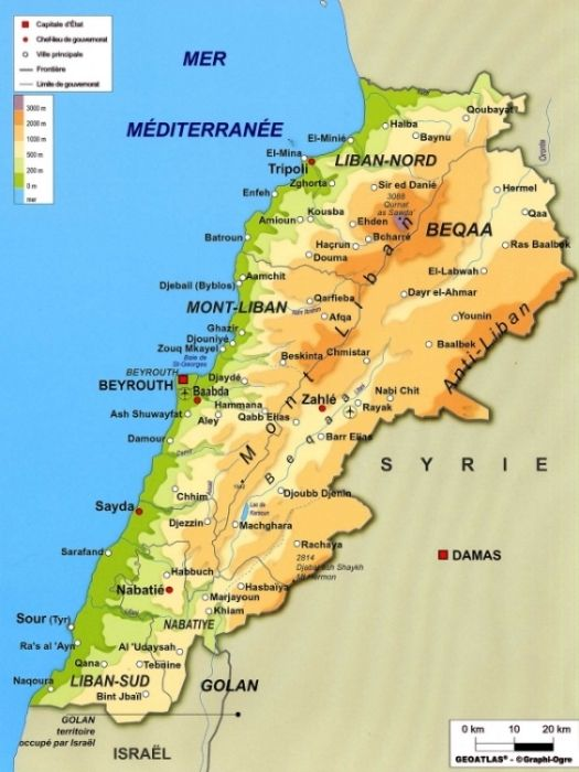 Photo Carte Liban Beyrouth Tourisme