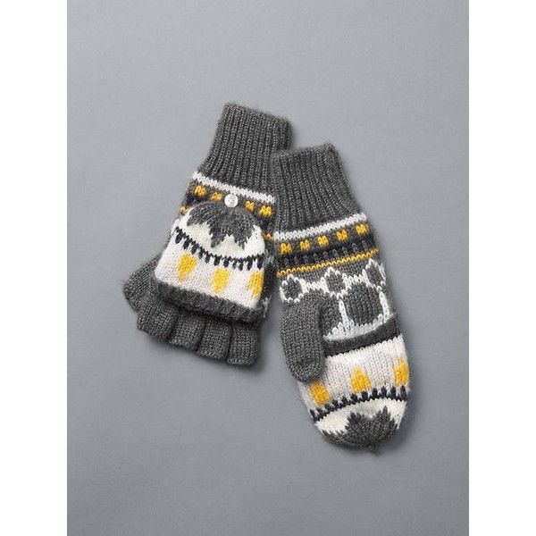 Gap Women Fair Isle Convertible Mittens ($25) ❤ liked on Polyvore ...