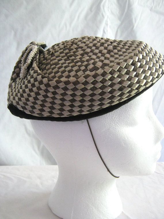 Vintage hat 1950s Sonni California cocoa by vintageboxofdelights, $30.00