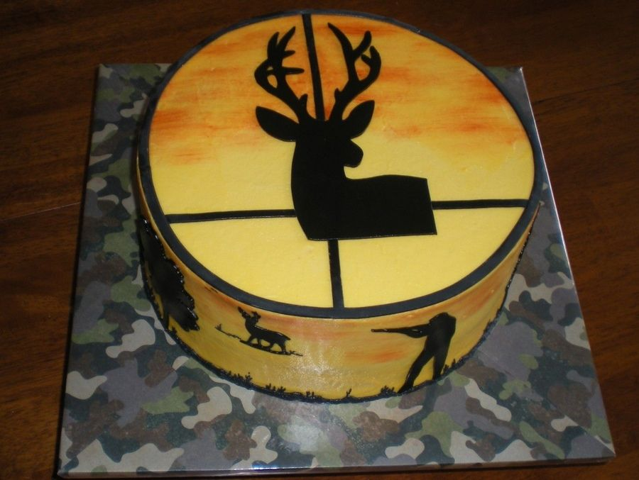 Hunting and fishing birthday cake Cake Central Birthday Partys