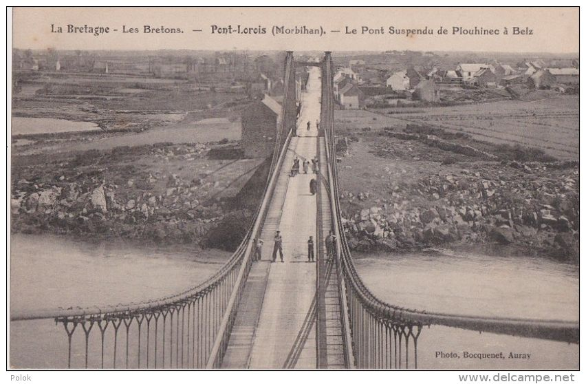 Carte Bretagne Belz.Pont Lorois Le Pont Suspendu De Plouhinec A Belz