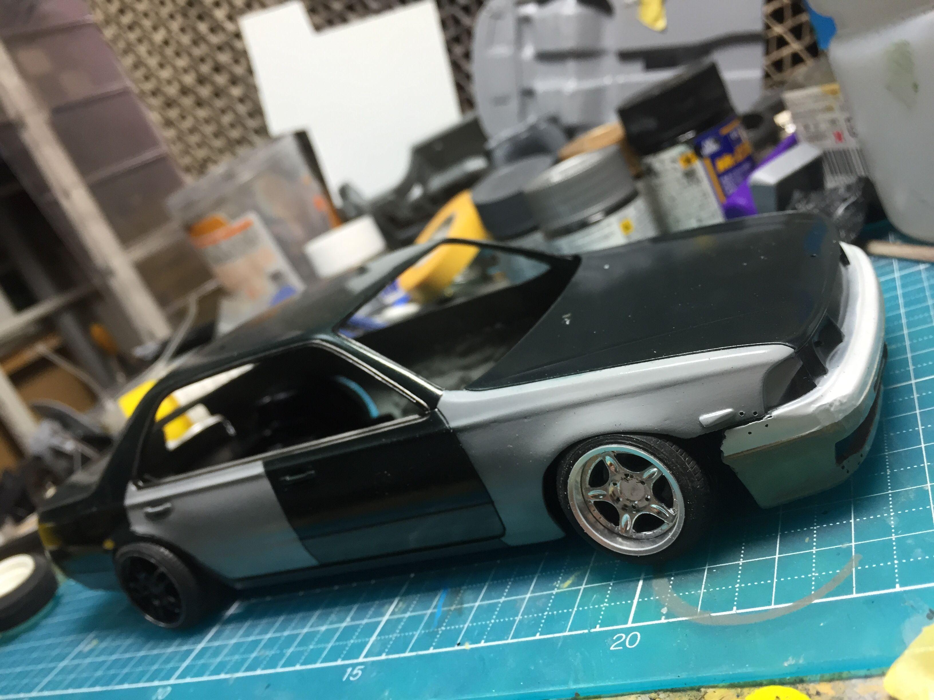 アオシマ C34 おんぼローレル おつかれ工房 車 模型 アオシマ プラモデル 車