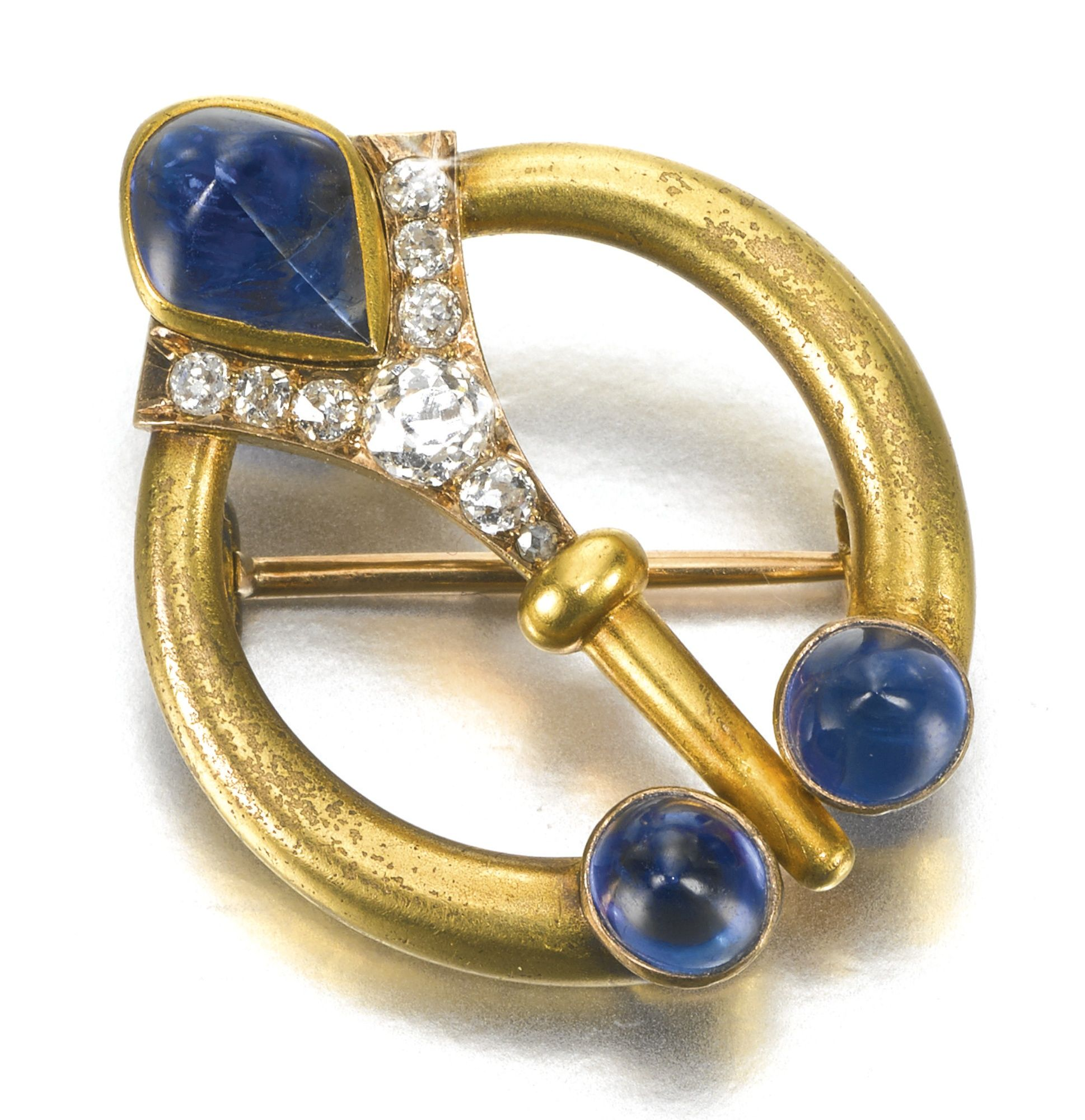 A rare Fabergé jewelled gold brooch, workmaster Edouard