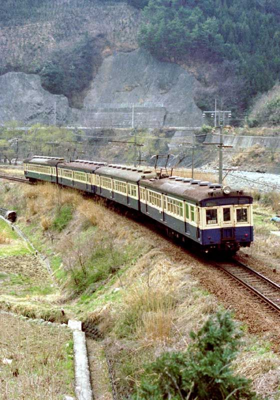 昭和50年代の鉄道写真 ぶんたの鉄道写真小屋 身延線の旧型国電とef15
