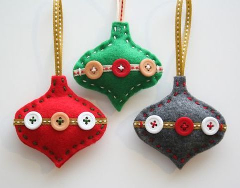 31 Cutest Christmas Felt Ornaments #feltchristmasornaments