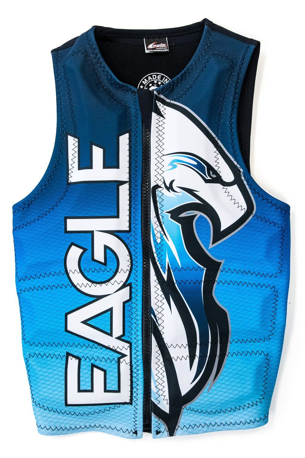 Masterline Blue Eagle Mens Bird Of Prey Water Ski Vest Eagle Mens Wetsuit Water Ski Accessories Water Skiing Tow Boat Towing
