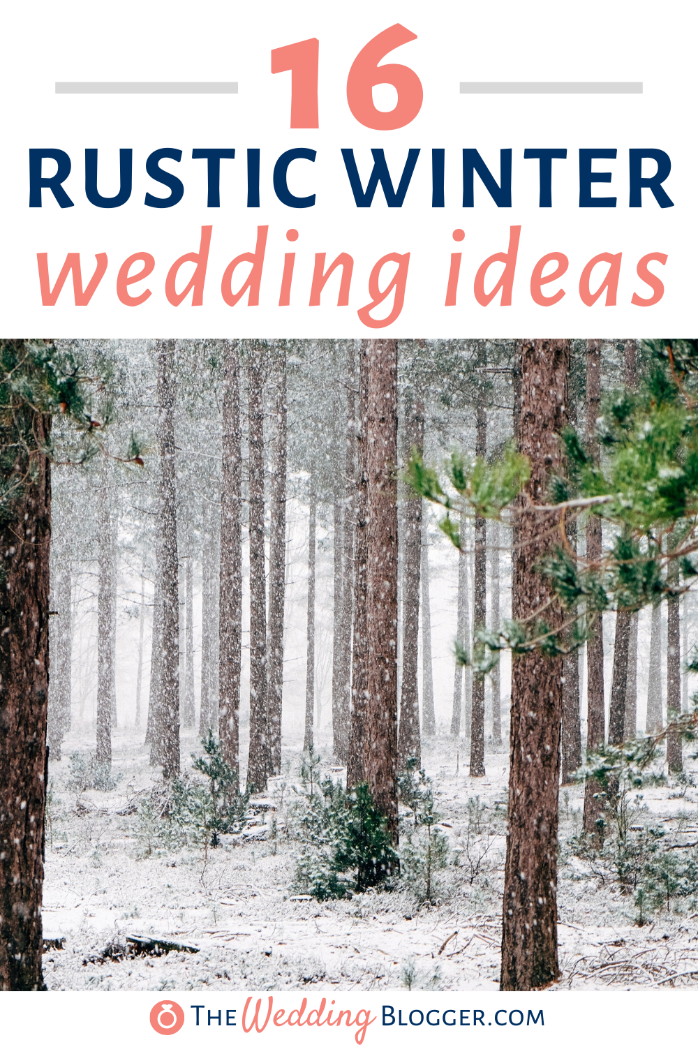 16 Rustic Winter Wedding Ideas -    Check out these rustic winter wedding ideas that are great for incorporating into your winter wedding day decor. If you're wondering what rustic winter themed wedding decorations you could incorporate into your special day, here are some great ideas for making your wedding reception feel rustic and winter inspired. These are fun and creative ways to have a rustic winter themed wedding ideas. #winterwedding   16 Rustic Winter Wedding Ideas  The Wedding Blogger
