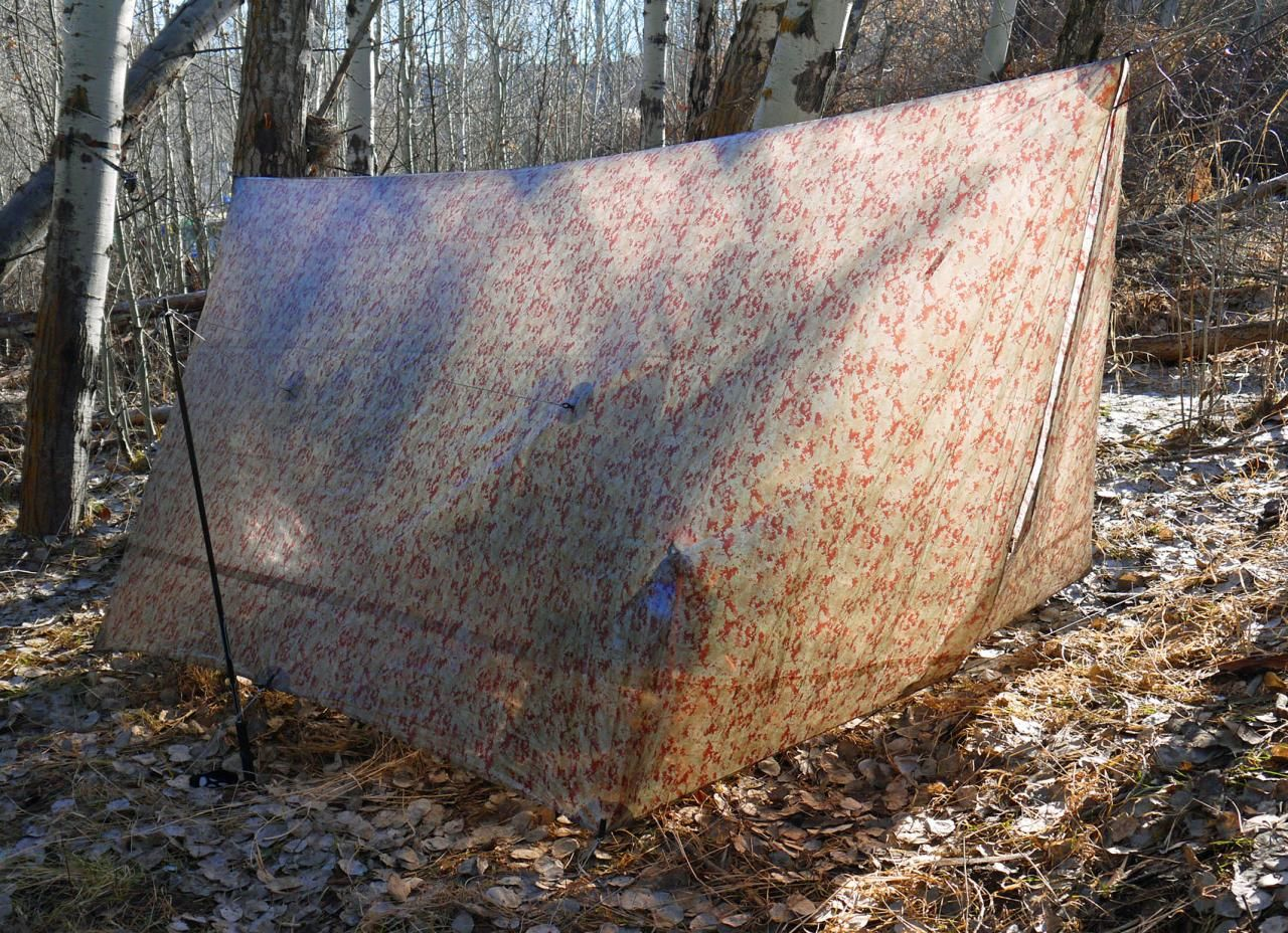Medium image of hammock gear   cuben fiber tarp cf3 winter palace camo