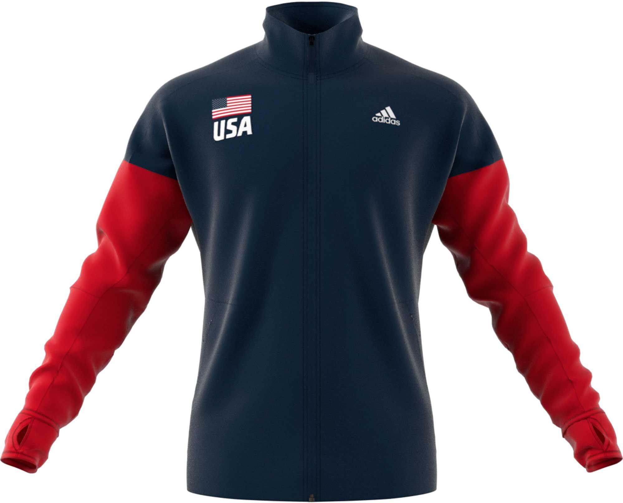 adidas Men's USA Volleyball Full Zip Warmup Jacket