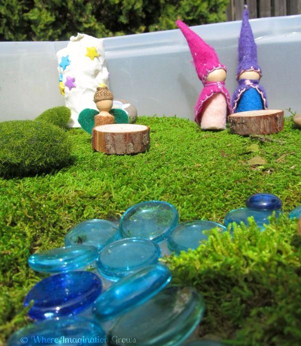 Gnome In Garden: Small World Play: Gnome & Fairy Garden