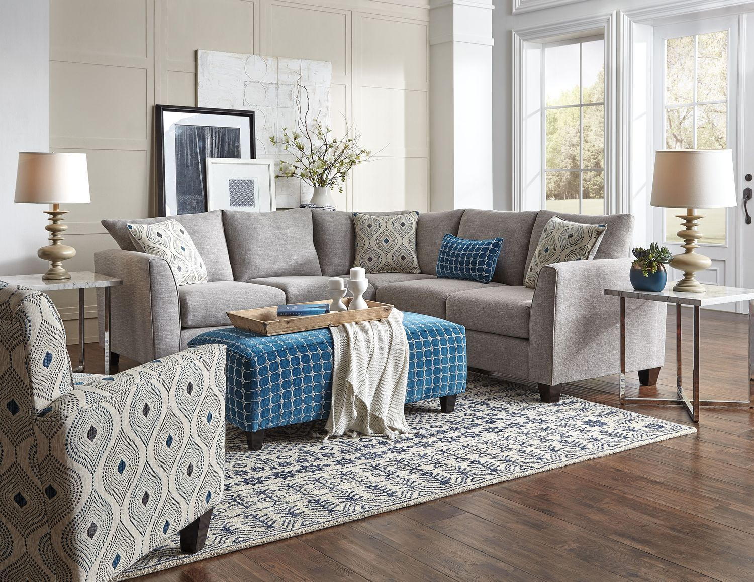 975 Living Room Furniture Roswell 2 Piece Sectional Sofa