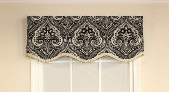 Superior Damask Scalloped Valance With French Pleated By VieDeJolie On Etsy
