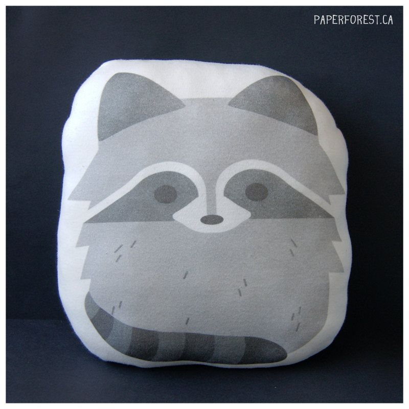 Raccoon Pillow Plushie. $15.00, via Etsy.