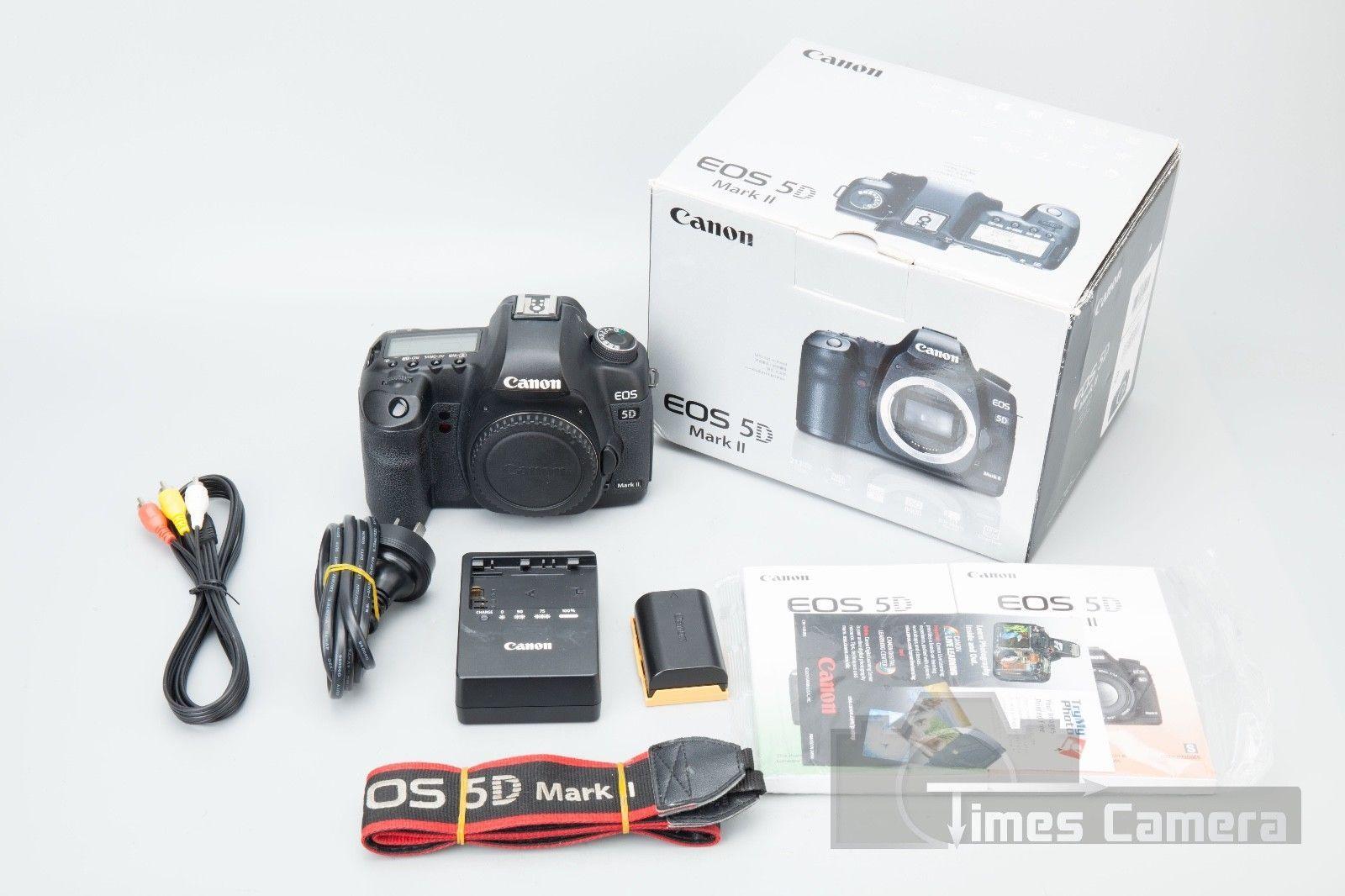 Canon EOS 5D Mark II 5D2 Mark2 20.2MP Full Frame DSLR Camera Body ...