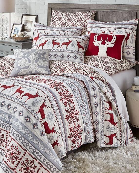 Holiday Red Truck King Cozy Fleece Sheet Set Christmas Bedroom Decor