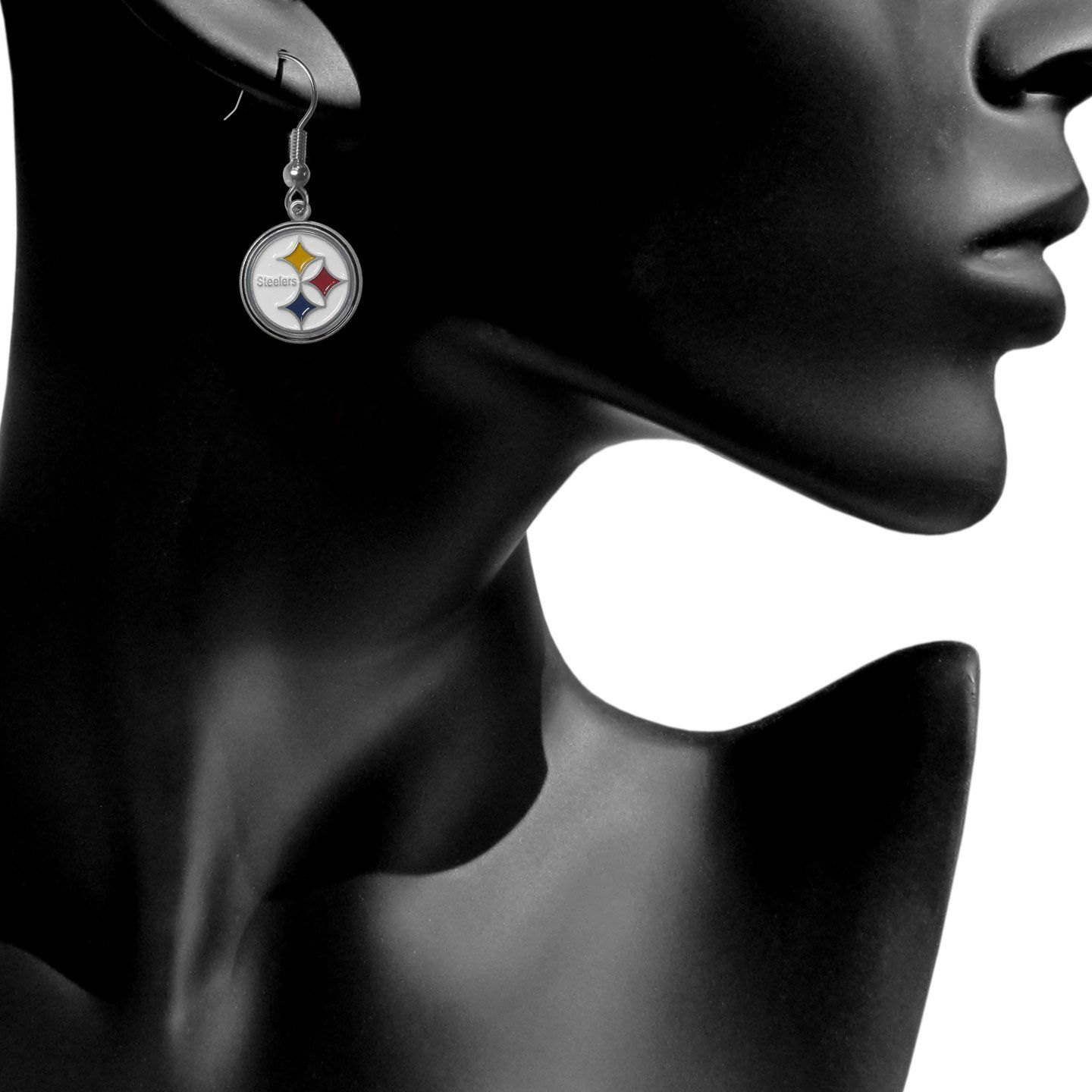 NFL Pittsburgh Steelers Dangle Earrings – See more at: http://jewelry.florentta.com/jewelry/novelty-jewelry/nfl-pittsburgh-steelers-dangle-earrings-com/