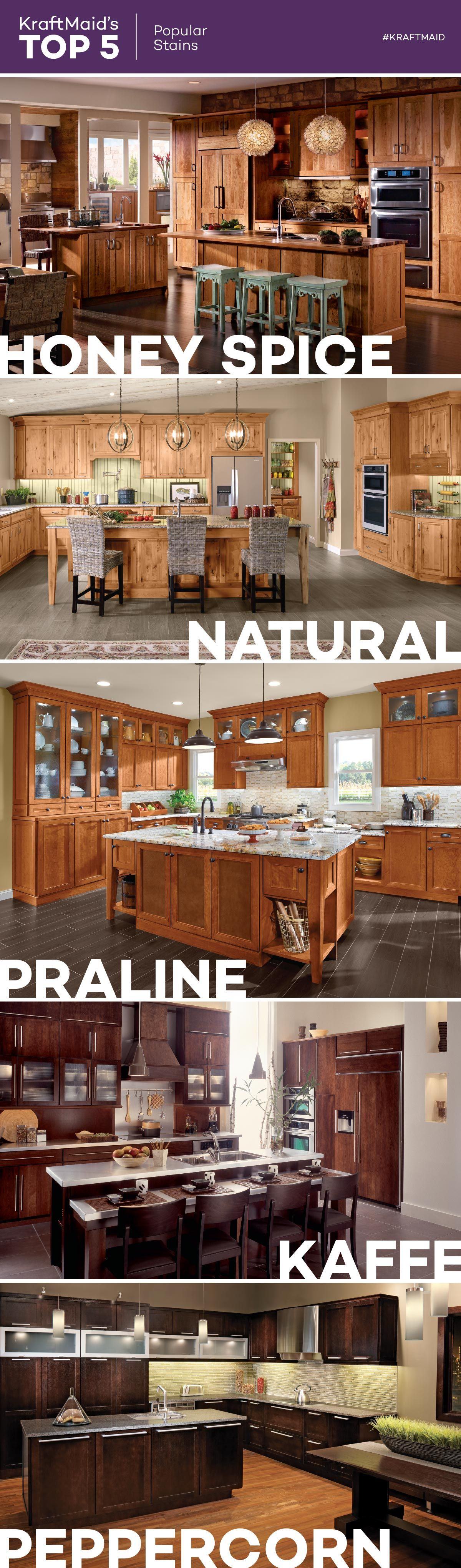 For An Alternative To Painted Kitchen Cabinets These Are Five Of Kraftmaid S Most Pop Farmhouse Chic Kitchen Rustic Kitchen Cabinets Kitchen Cabinets Makeover