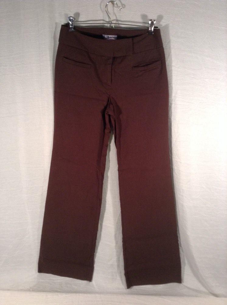 New York & Company By Nine West Stretch Dress Pant Dark Brown Size 8 Four Pocket #NewYorkCompany #DressPants
