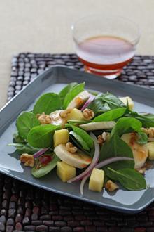 Tropical Spinach Salad makes a refreshing dish for picnics