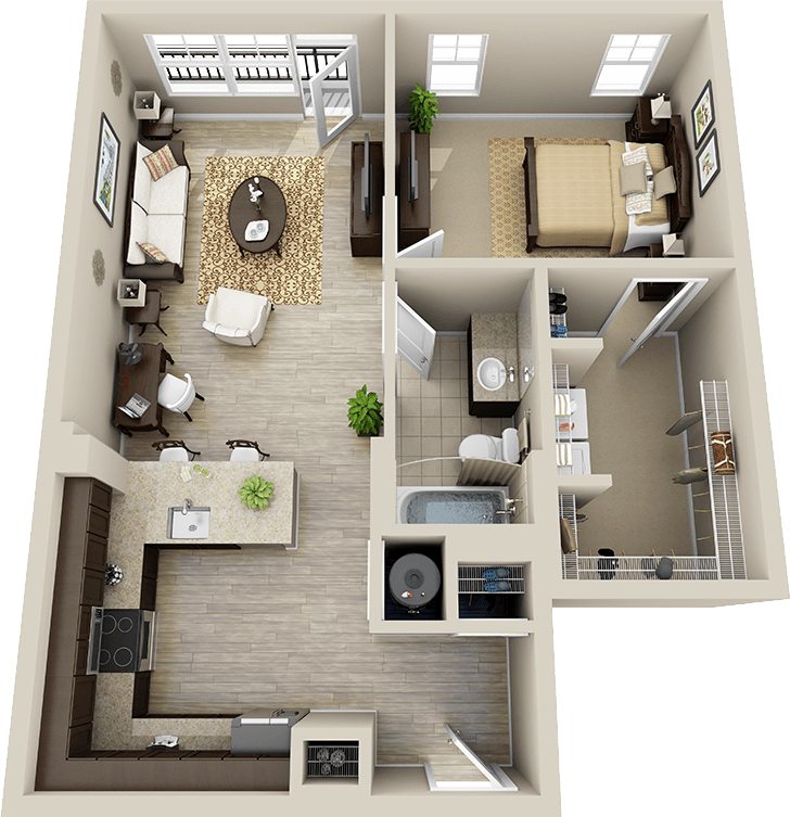 Find Apartments In My Area: 3d Floor Plan Apartment - Google Search