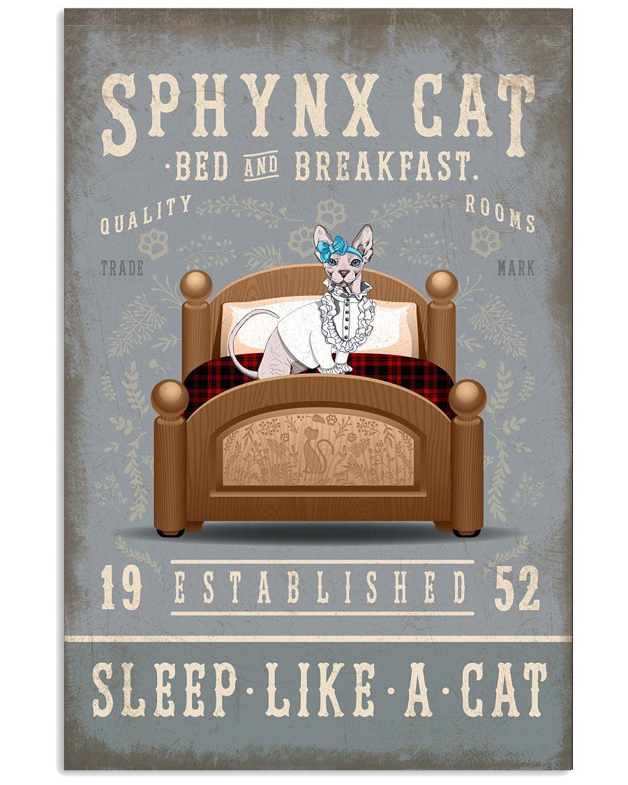 JUST RELEASED ! SPHYNX CAT IN BED BREAKFAST WALL ART