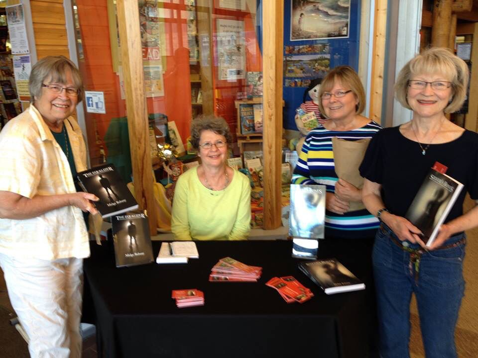 Author Midge Bubany And Her Posse At Beagle Books Author Fest In