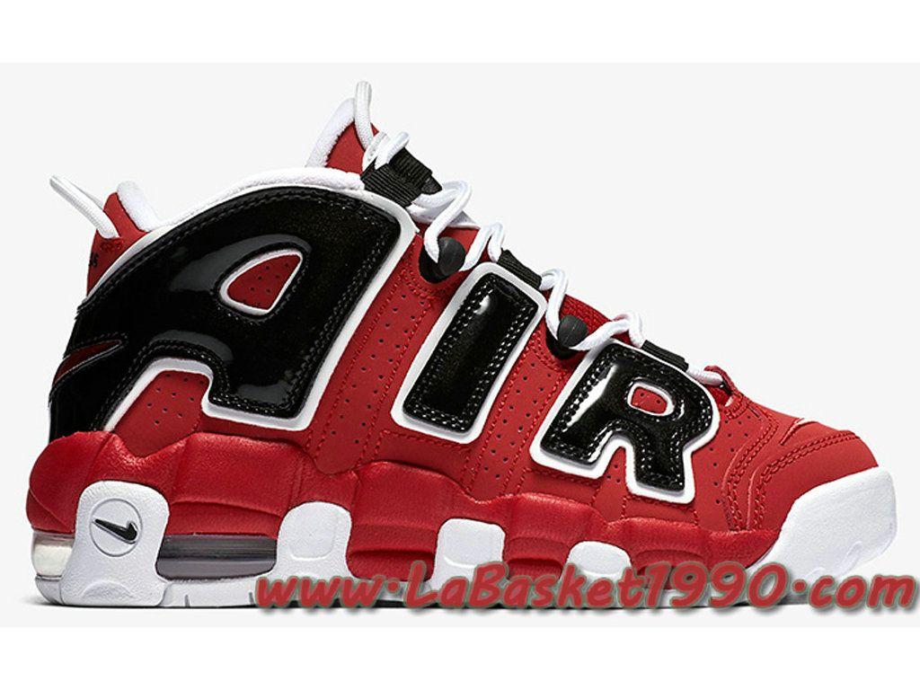 Nike Air More Uptempo 415082-600 Chaussures de BasketBall Pas Cher Pour  Homme Rouge Noir