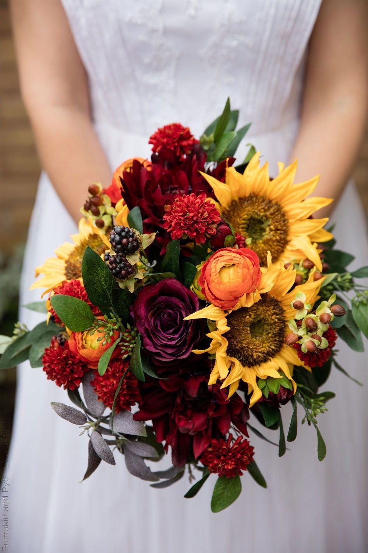Sunflower Wedding Bouquet Create your own silk flower ...