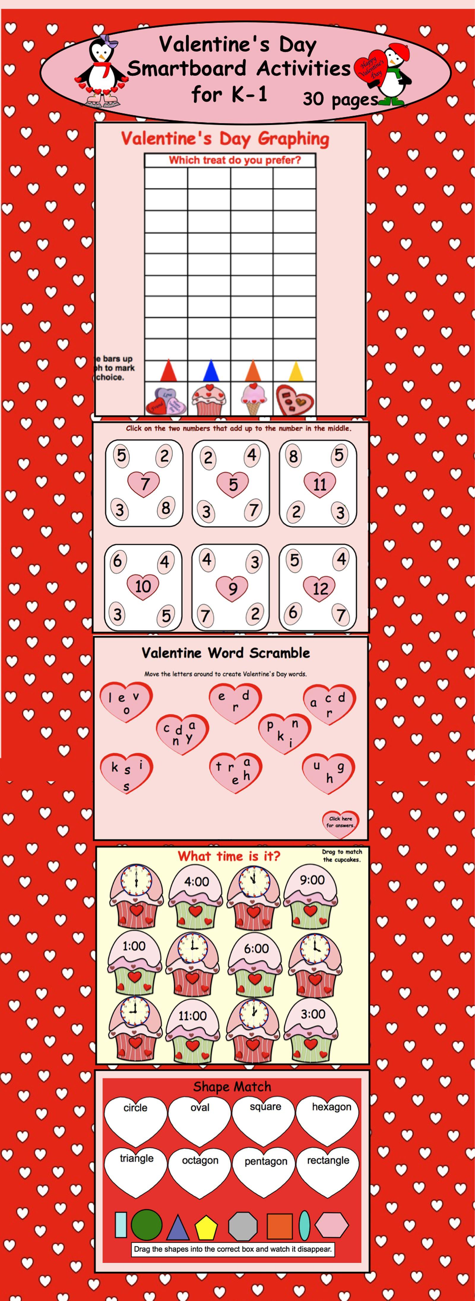 Interactive Valentine S Day Language And Math Smartboard