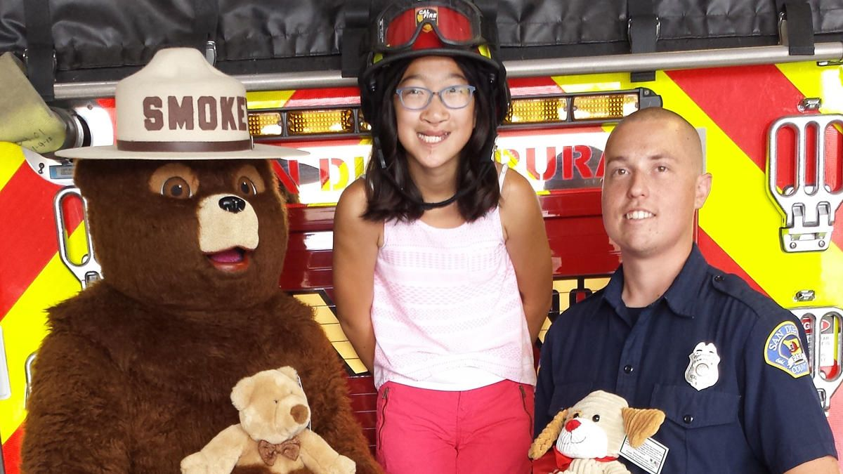 A San Diego 12-year-old who runs a nonprofit organization dedicated to helping children made a generous donation, giving 400 teddy bears to local fire stations.