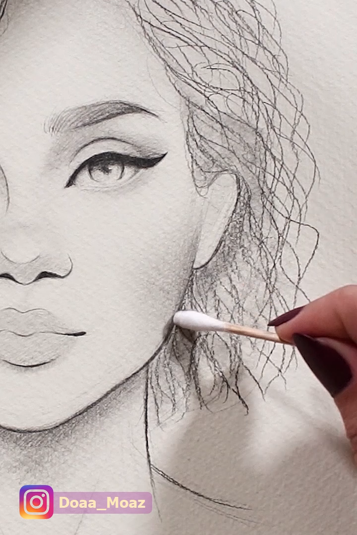 Photo of Drawing curly hair