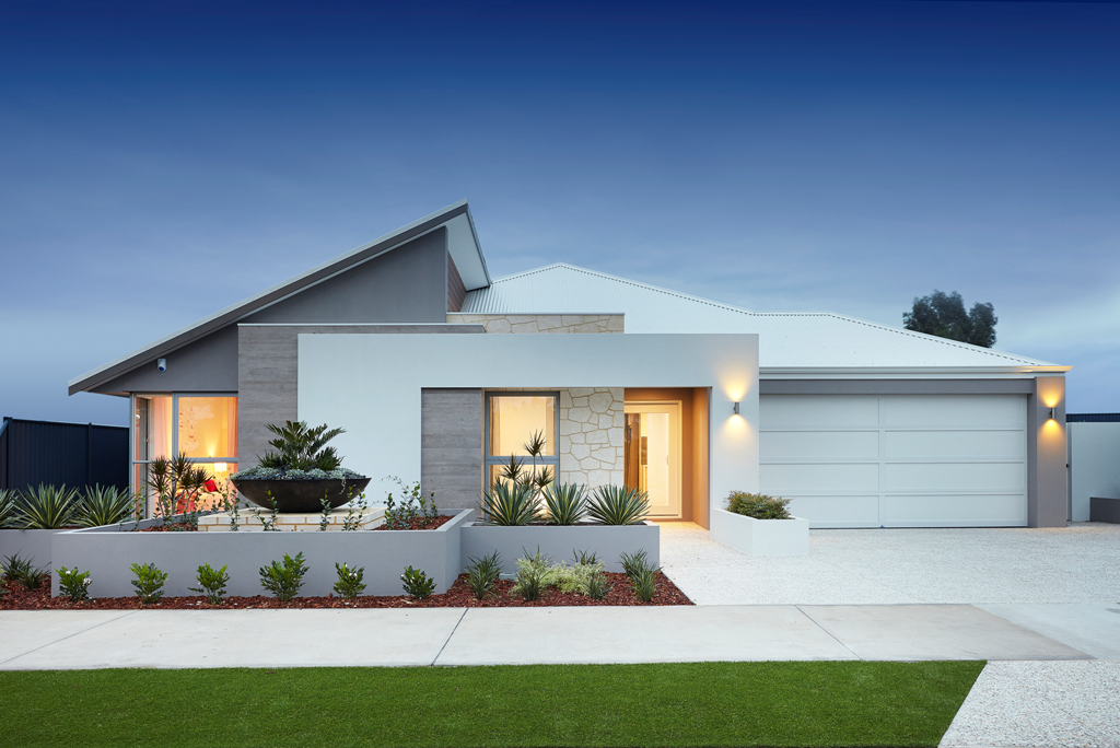 The sorrento the stunning street appeal of the for New modern home elevation