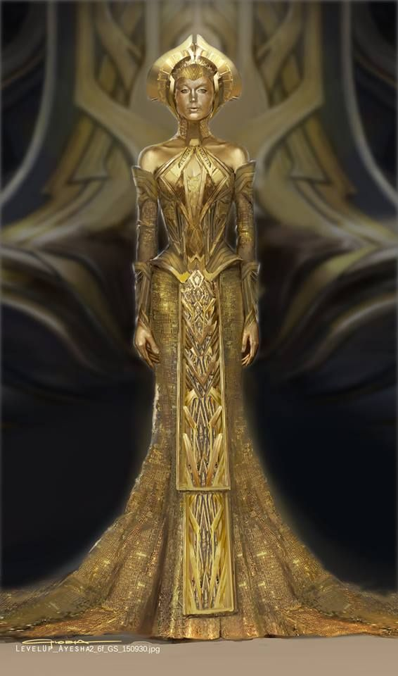 Alternate Ayesha Costume Designs For Guardians Of The Galaxy 2