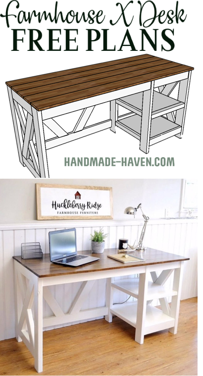 Farmhouse X Office Desk In 2020 Easy Home Decor Home Decor
