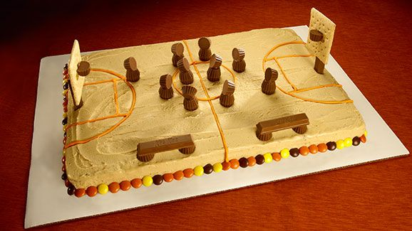 REESES Basketball Court Cake Recipe Basketball court Cake and