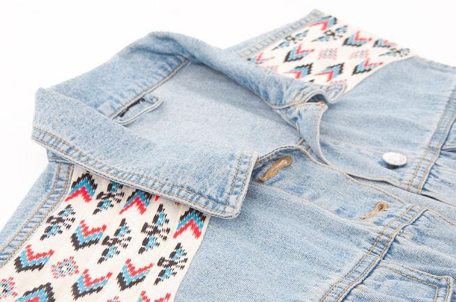 DIY Tutorial: Jeansweste mit Schulter-Applikationen aus einer Ethno ...