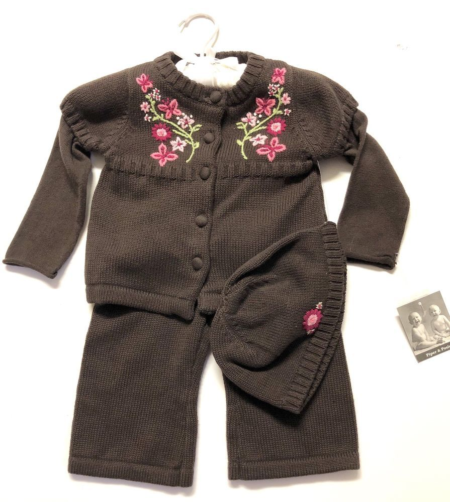 85d7734db170 Piper   Posie Infant Boutique Outfit Baby Girl Sweater Top Bottom ...