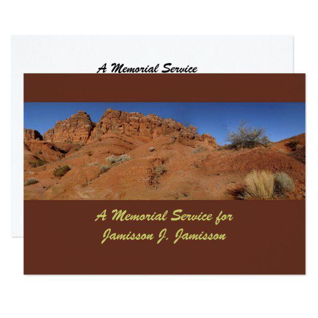 Memorial Service Invitation Red Rock Hills Invitation