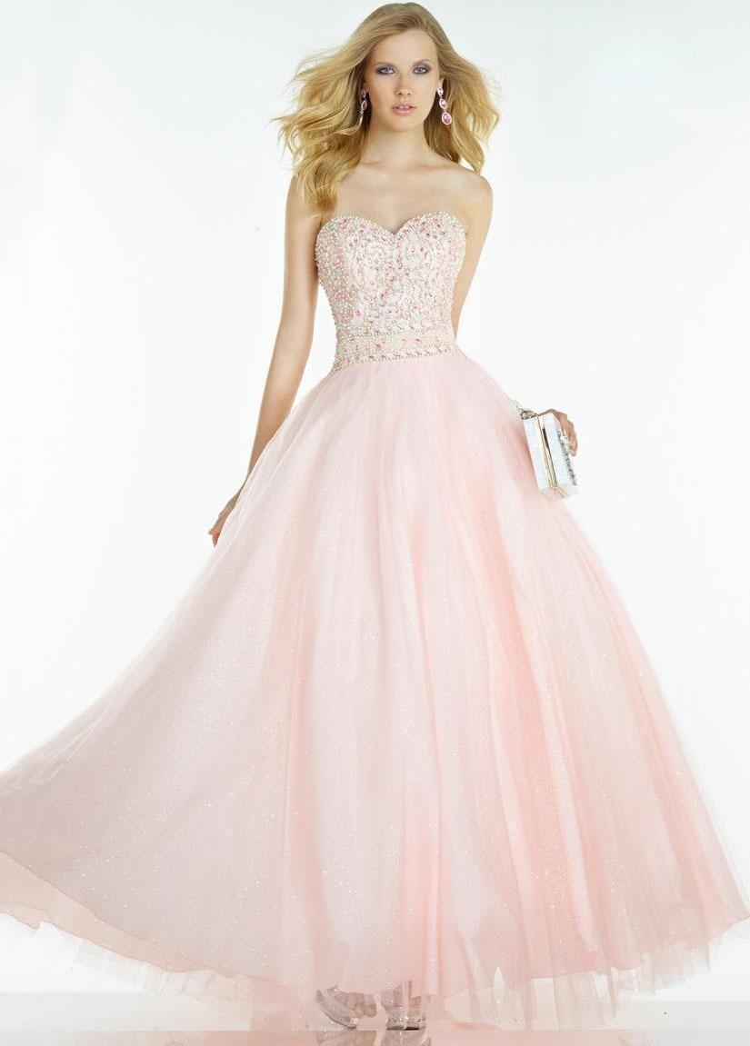 Alyce elegant strapless beaded corset ball gown dresses in