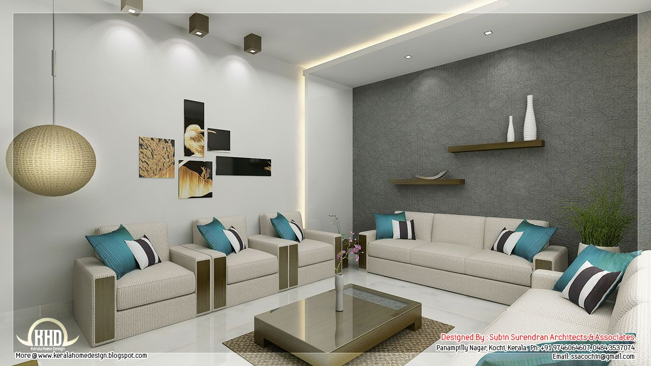 Awesome 3d Interior Renderings Kerala House Design Li