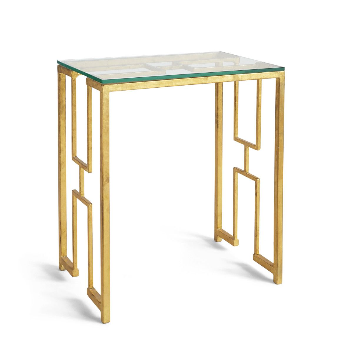 Surprising Geometric Gold Leaf Side Table Side Tables In 2019 Table Squirreltailoven Fun Painted Chair Ideas Images Squirreltailovenorg