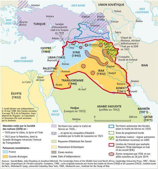 Du Decoupage De L Empire Ottoman Aux Projets Des Djihadistes