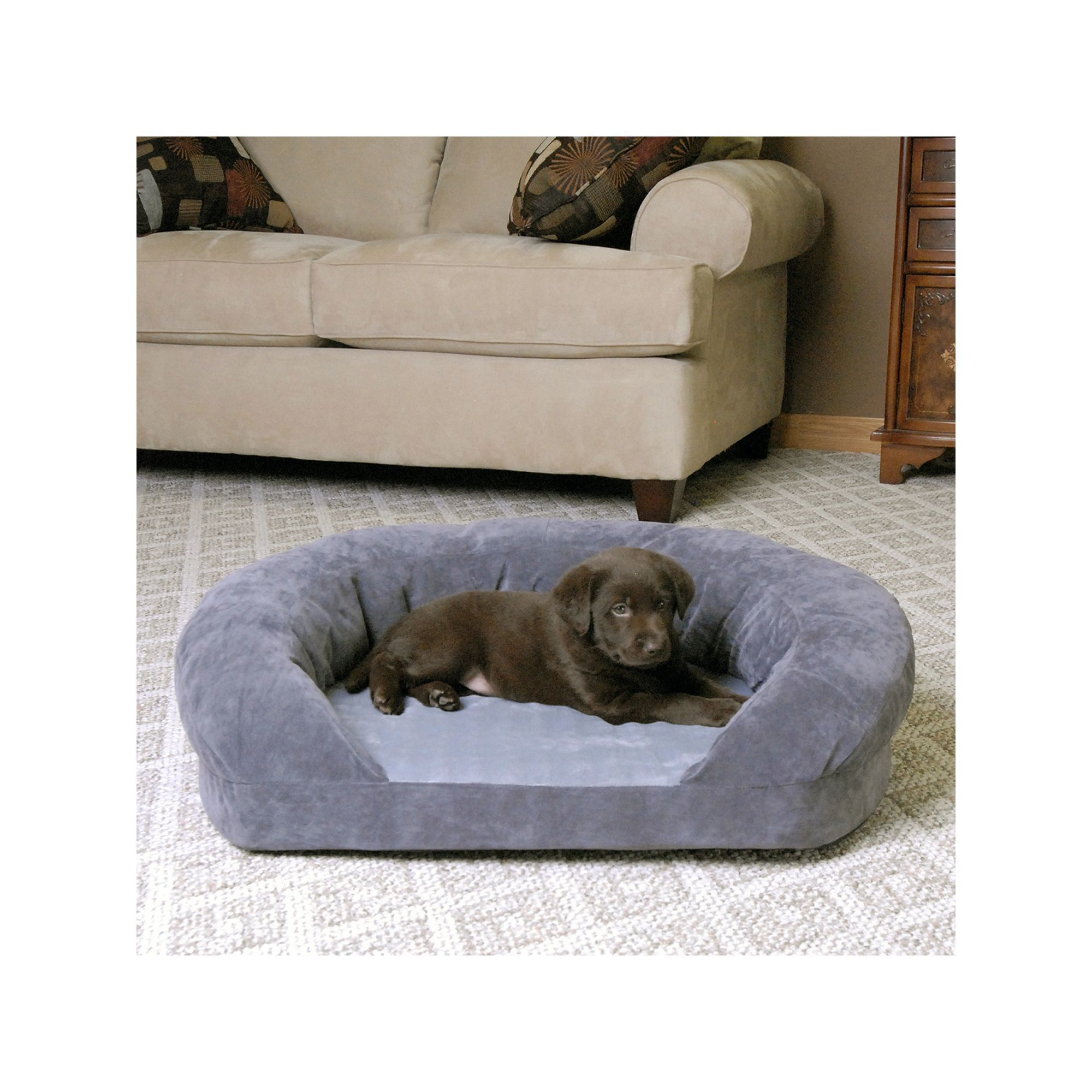 K And H Pet Ortho Sleeper Oval Pet Bed 20 X 16 Grey Pets Baby Animals Super Cute Baby Animals Pictures