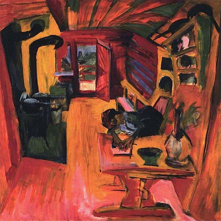 Kitchen In An Alpine Hut Ernst Ludwig Kirchner