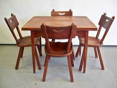 CUSHMAN COLONIAL CREATIONS FURNITURE DINING TABLE CHAIR.I want